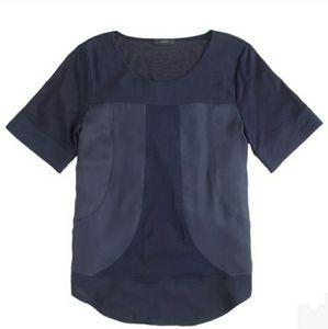 J. Crew Dressy Essential Black Panel Shirt